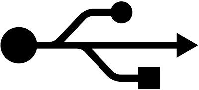 simbolo de cable usb