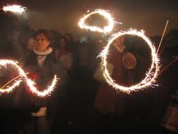 Noche de fuegos artificiales en Londres