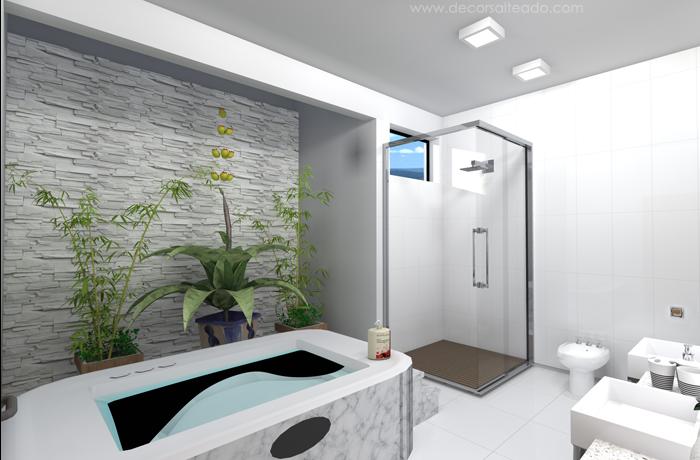 Banheiros com Banheiras! 30 Modelos maravilhosos!  Decor Salteado  Blog de  -> Banheiros Com Banheira E Jardim De Inverno