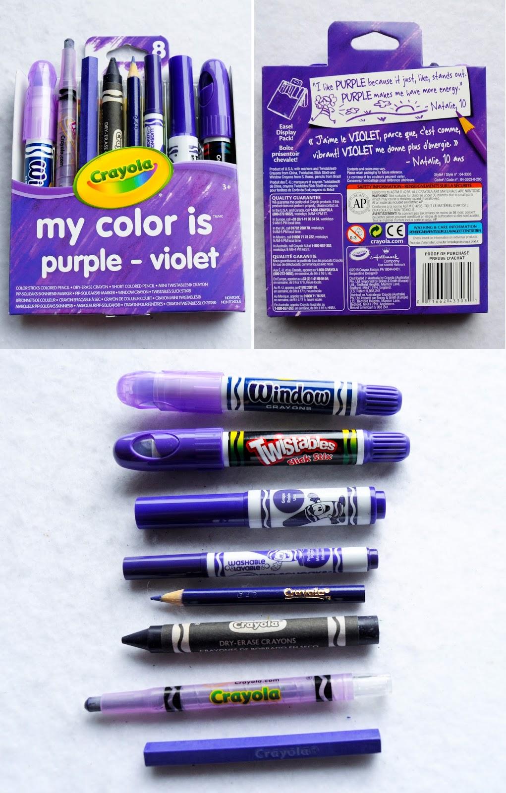 Purple Crayola Crayon Crayola My Colo...