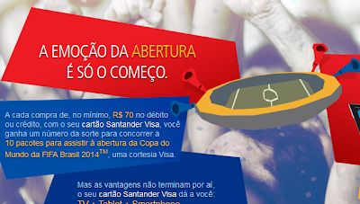"""Promoção """"Santander Visa Emoção Garantida"""""""