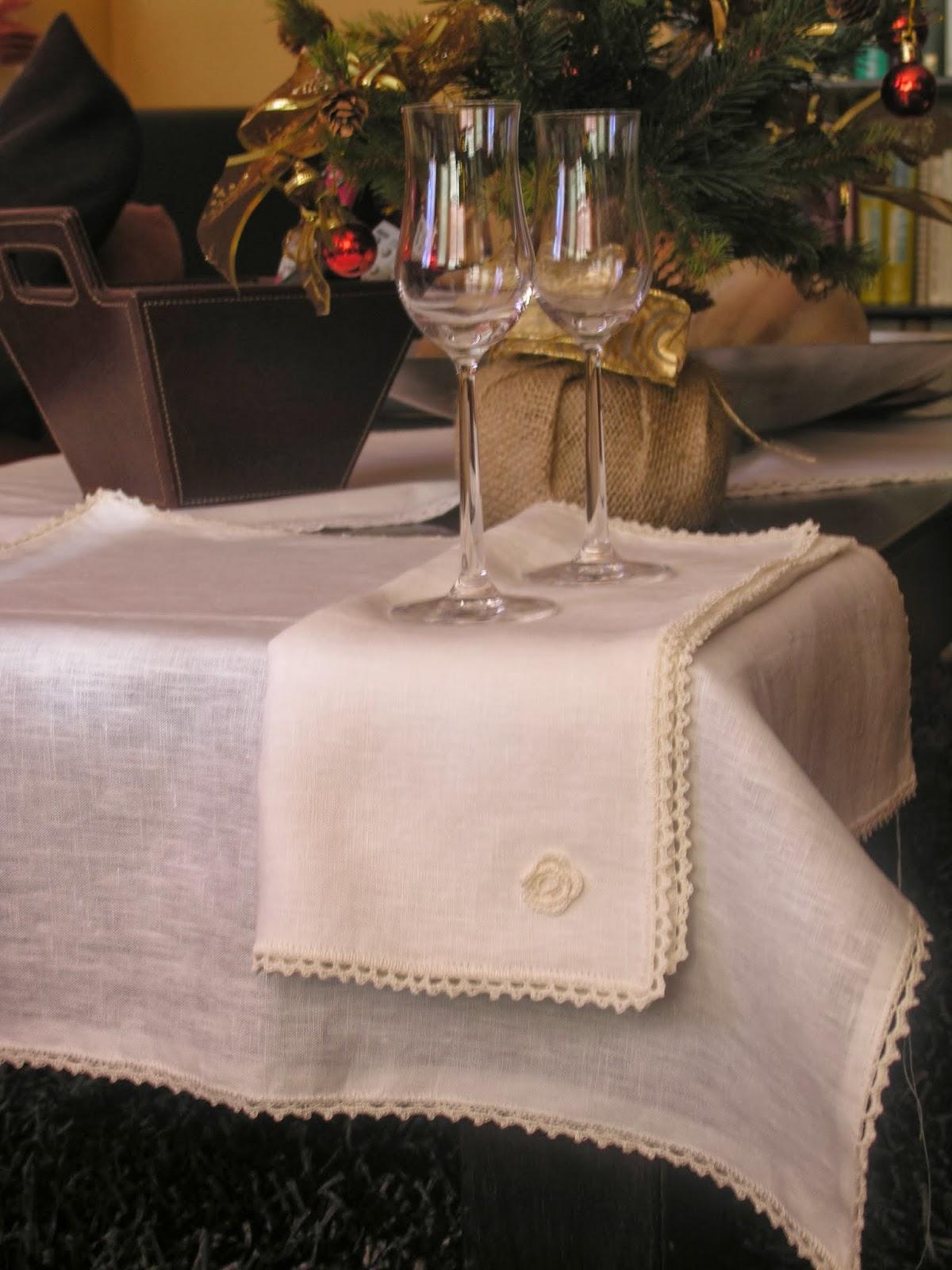 Crochet handmade manteles de lino y crochet handmade - Manteles de lino ...