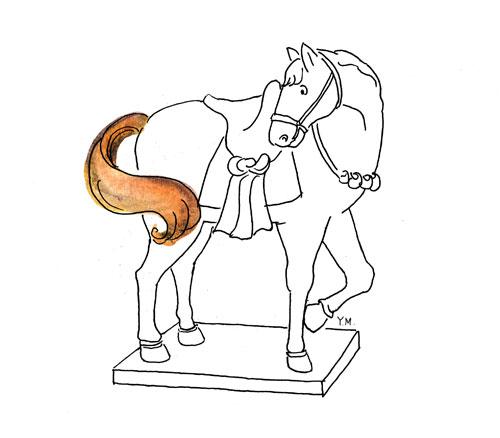 Horse tail by Yukié Matsushita