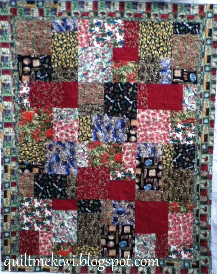 Quiltmekiwi Lois Kiwiana Stack N Whack Quilt