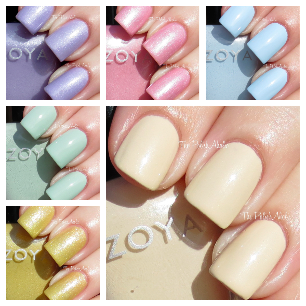 The PolishAholic: Zoya Spring 2013 Lovely Collection Swatches