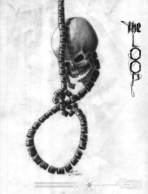 art artist pencil drawing skull loop
