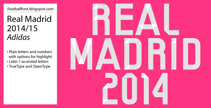Real Madrid Players Numbers 2015 The Real Madrid 2014/2015 Font