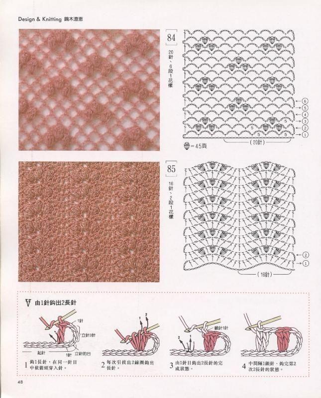 SOLO PUNTOS: Punto abanico crochet