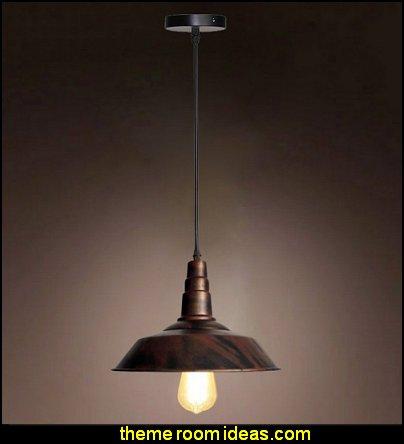 Bronze Vintage Metal Industrial Pendant Light Warehouse Shade