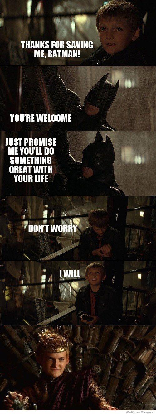 Batman salva a joven Joffrey - Juego de Tronos en los siete reinos