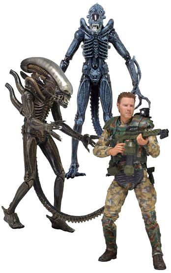 NECA Aliens Series 2 - 1979 Alien - Blue Alien Warrior - Sgt. Chris Windrix