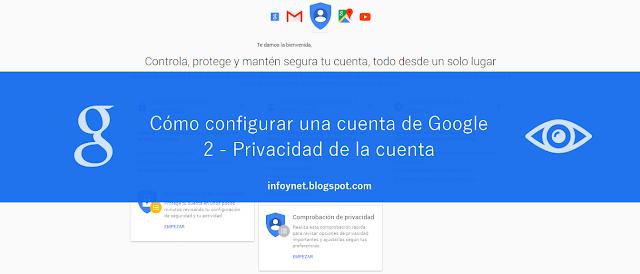 Cómo configurar una cuenta de Google (2) Privacidad de la cuenta