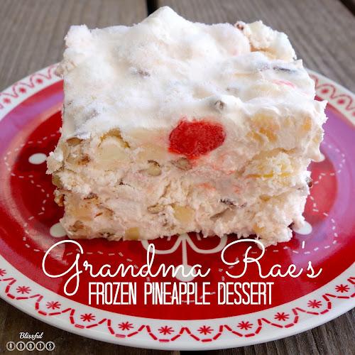 Grandma Rae's Frozen Pineapple Dessert from Blissful Roots
