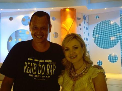 RENE DO RAP & APRESENTADORA ELIANA REDE RECORD TELEVISÃO SP