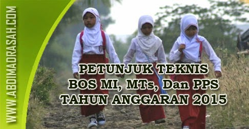 Juknis BOS Madrasah Tahun 2015
