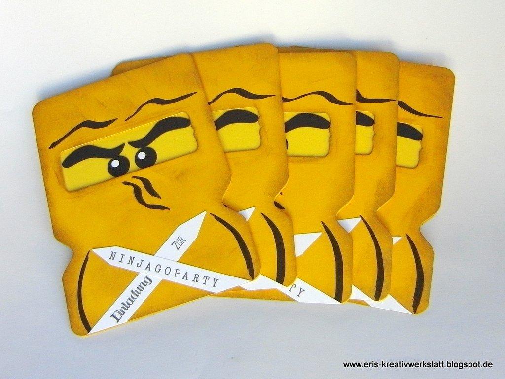 Ninjago Einladungskarten   Jetzt Auch In Grün, Weiß, Blau Und Gold :  Erikau0027s Blog