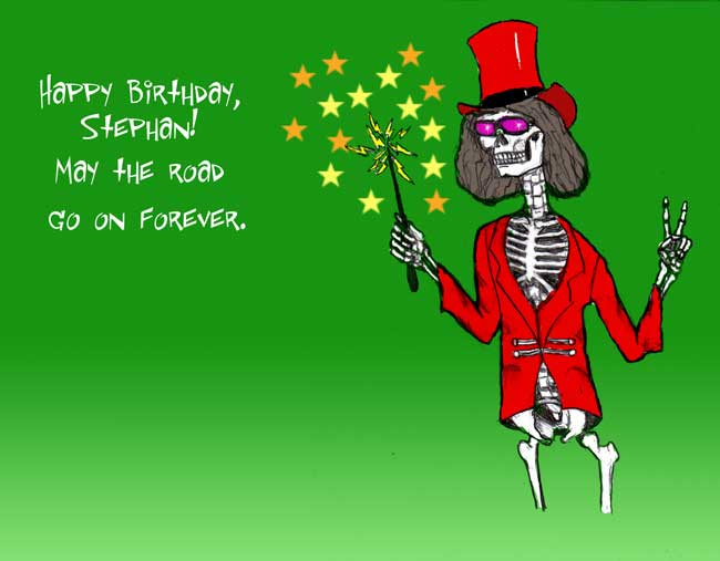 Sketches art and thoughts a couple of birthday cards for august for the skeleton i used a circus ring masters coat and hat m4hsunfo