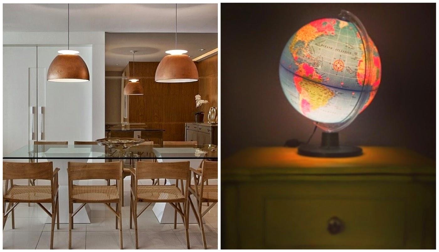 pares de pendentes @assimeugosto globo terrestre virou luminária @casadecolorir