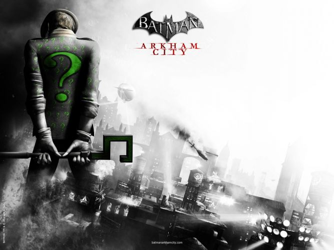 BATMAN: ARKHAM CITY Riddler Trailer/Wallpaper ...