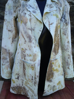 casaco de algodão estampada artesanalmente
