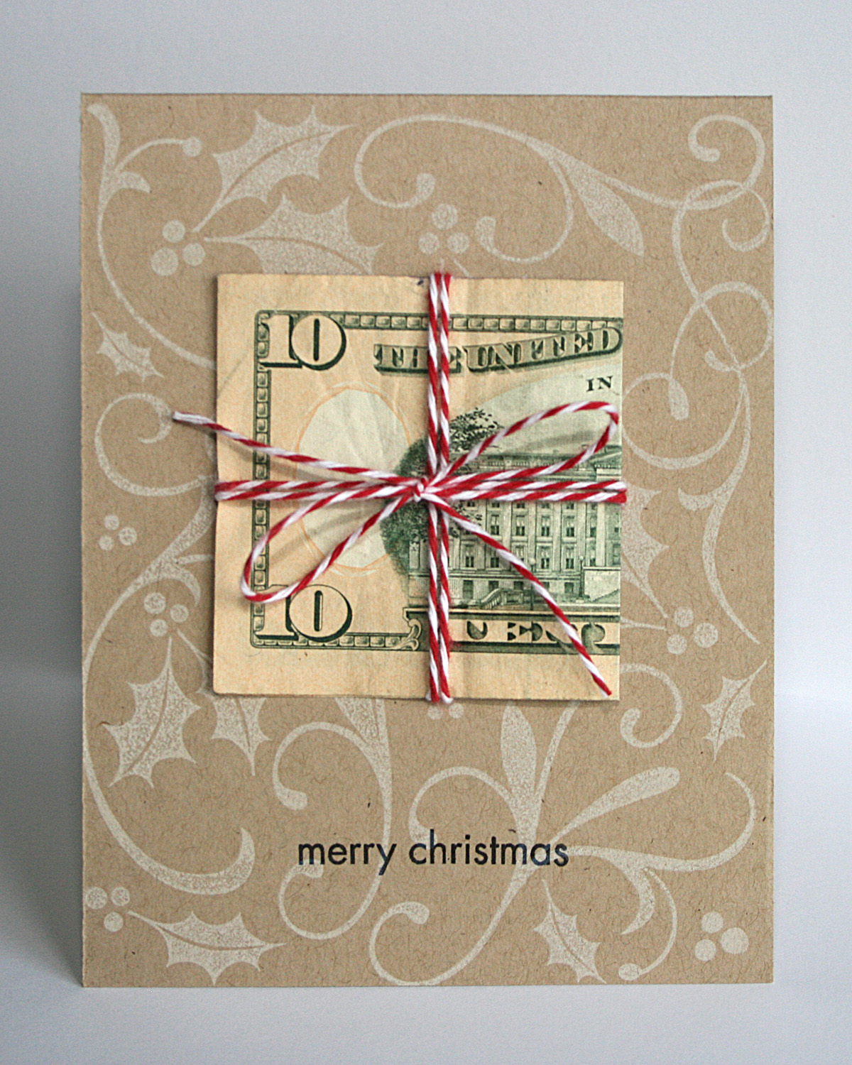 My Impressions: Merry Christmas Money Card