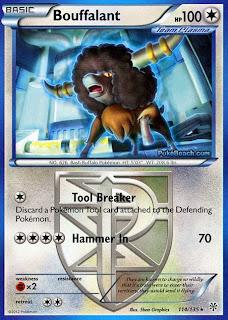Bouffalant Plasma Storm Pokemon Card