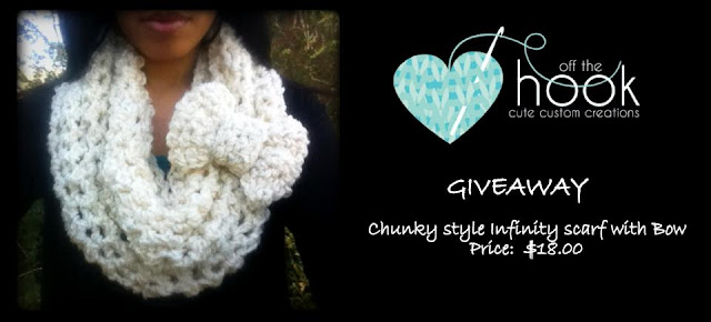 Chunky Infinity Scarf with bow giveaway