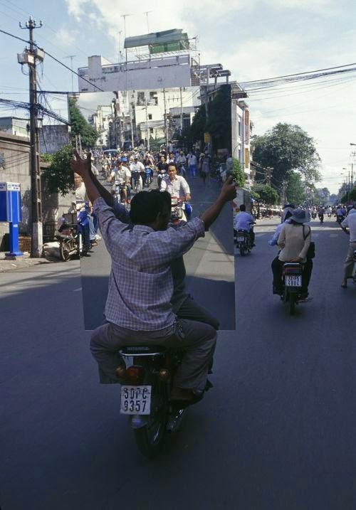 Hans Kemp fotografia motos lotadas cidades Vietnã bikes of burden