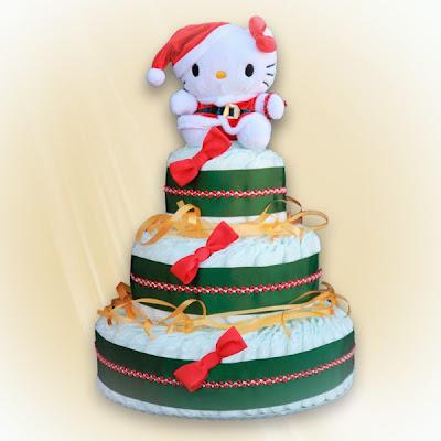 regalos originales para bebés. tarta de pañales navidad
