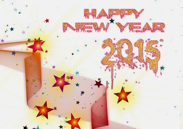 Shining Stars Happy New Year Wishes Wallpapers 2015