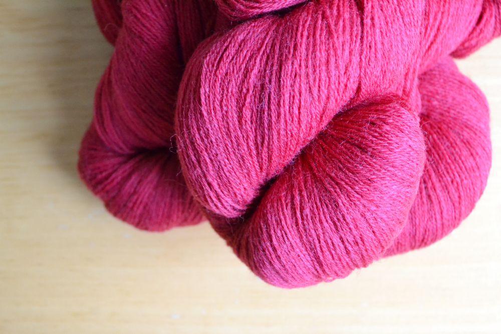 yarn red skeins