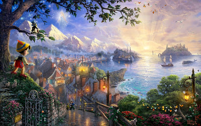 Pinocchio Disney Animated Movie Nature Wallpaper
