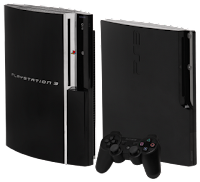 PlayStation 3 Black console with a black controller
