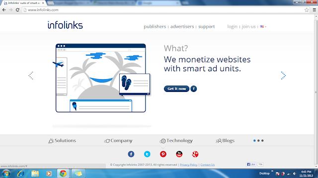 Apply your blog for infolinks