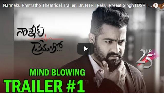 Nannaku Prematho Theatrical Trailer, Jr. NTR Nannaku Pematho Trailer