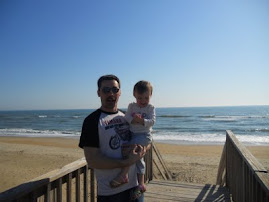 Daddy & Evelyn at the Beach