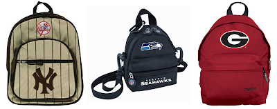 Small Backpacks for MLB, NBA, NFL and NCAA Sports Fans