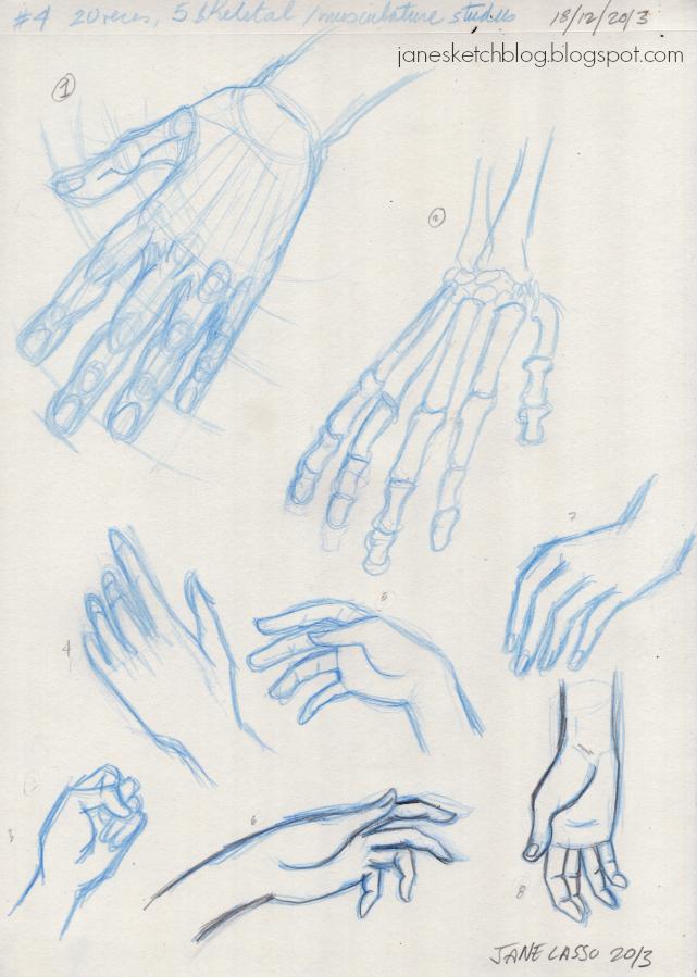 Dibujos de manos a lápiz