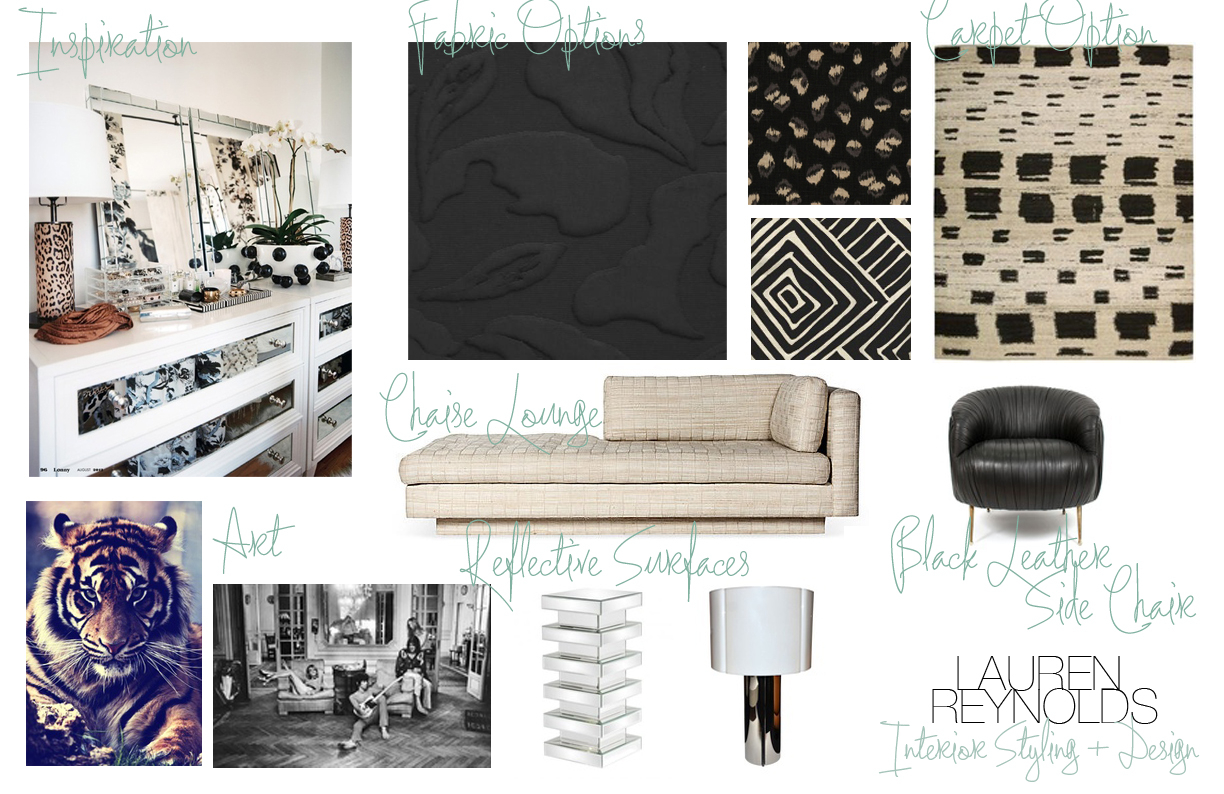 An Eclectic Black & White Living Room title=