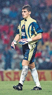 Iker Casillas' debut playing for Real Madrid