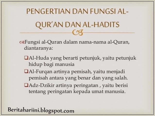 Al-Qur'an Sebagai Pedoman Hidup Umat Islam