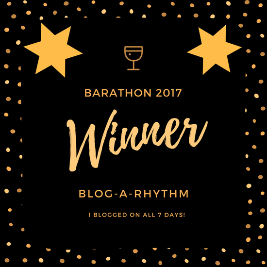 Winner at the BAR-A-THON Blogging Challenge, 2017