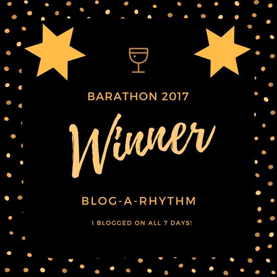Winner at the BAR-A-THON Blogging Challenge, 2017
