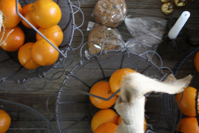 l&l at home - holiday gift baskets in progress - image by lb for linenandlavender.net - http://www.linenandlavender.net/2013/12/what-were-up-to-this-holiday-season.html