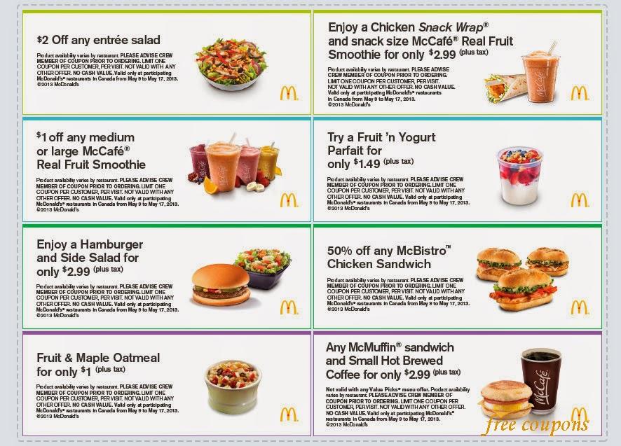 Mcdonalds breakfast coupons june 2018