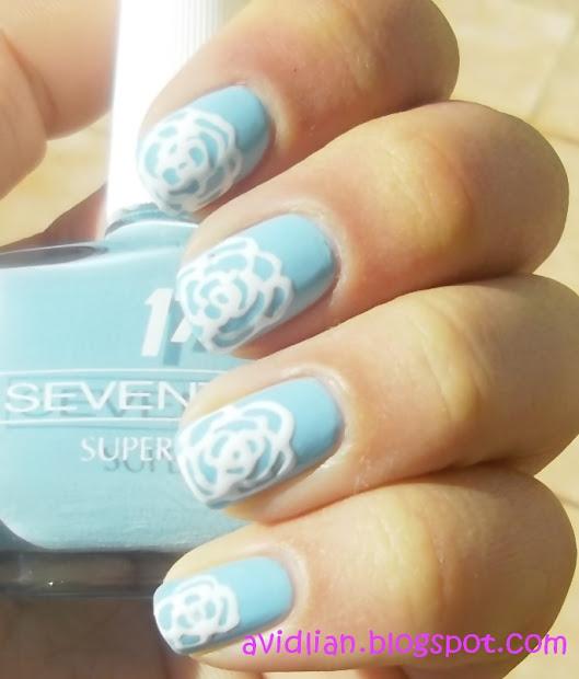 avidlian simple rose nail art