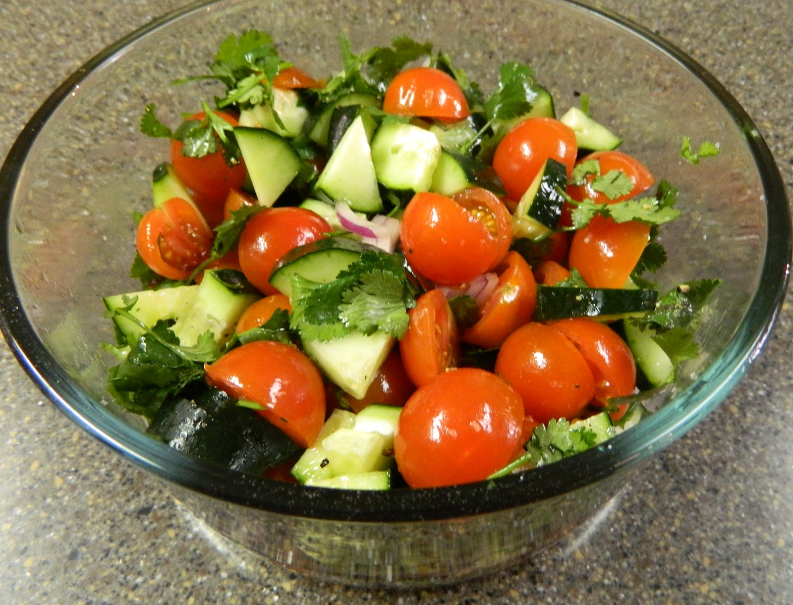 Sugar Spice and Spilled Milk: Tomato and Cucumber Salad