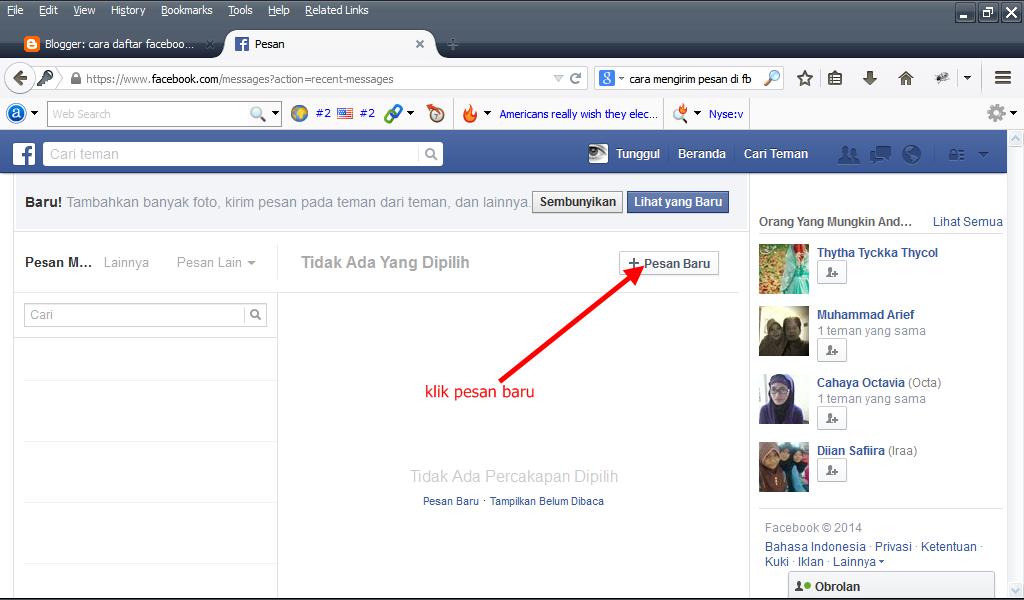 Bagaimana caranya mengirim pesan kesemua teman facebook