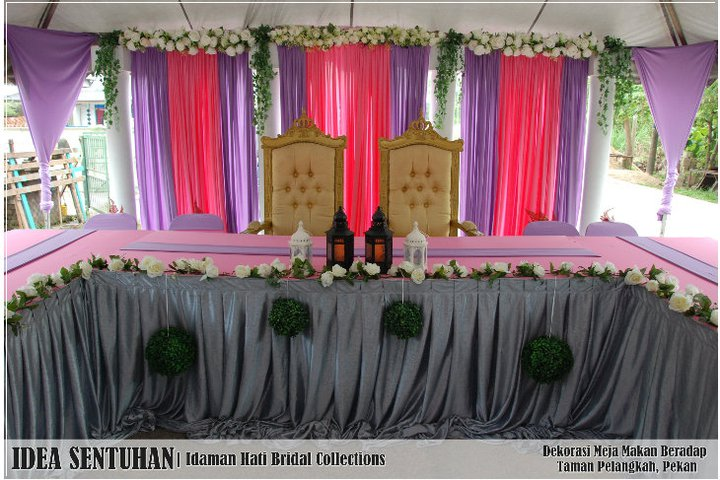 lovelyshafa wedding tema warna gold ungu share the