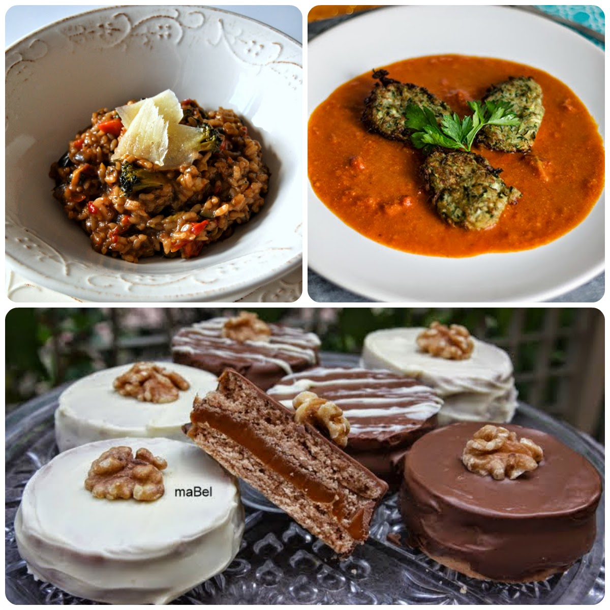 Platos del 14 Menú vegetariano con recetas de otros blogs.